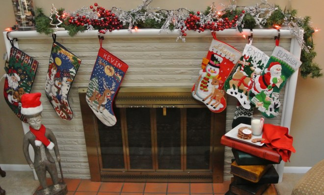Fireplace with cookies