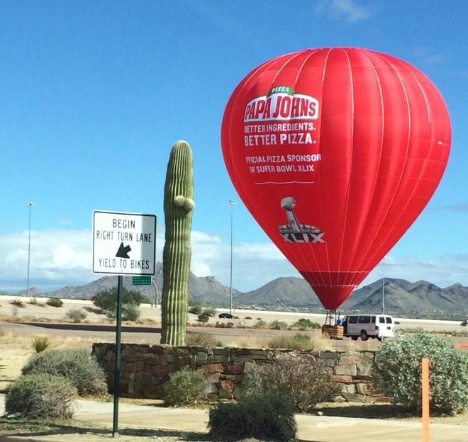 SuperBowl Hot Air Balloon