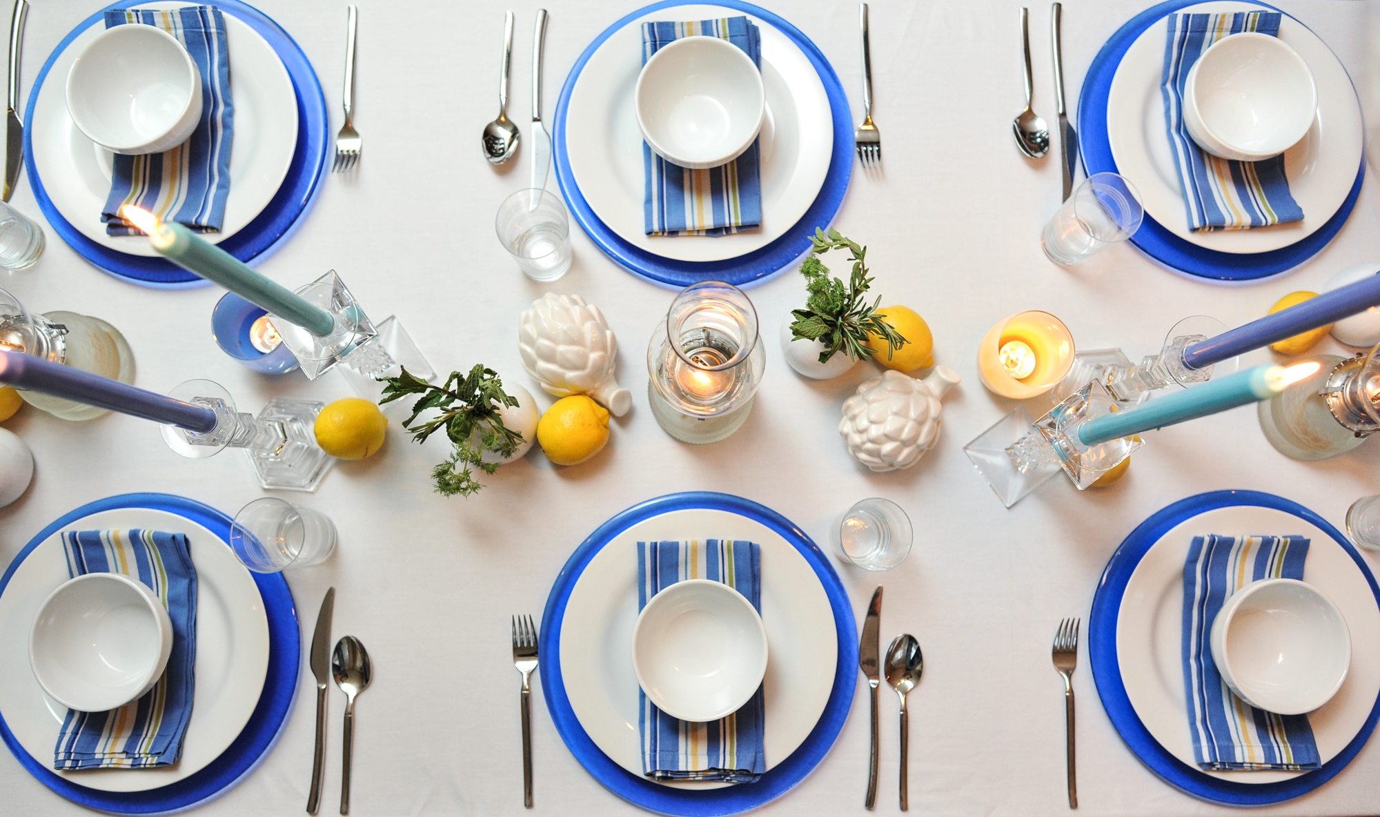& Greek Table setting