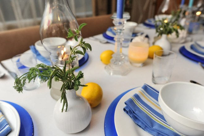 Greek Table setting