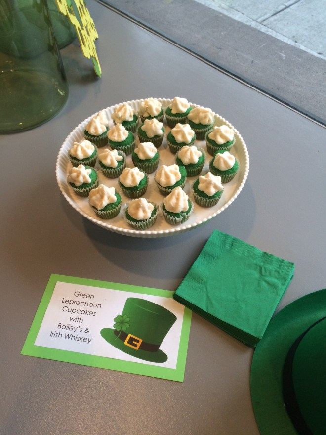 Mini Green Leprechaun Cupcakes