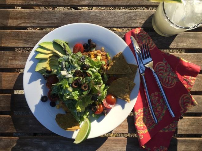 Guacamole Chip Chicken Taco Salad