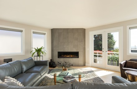 Modern Linear Fireplace
