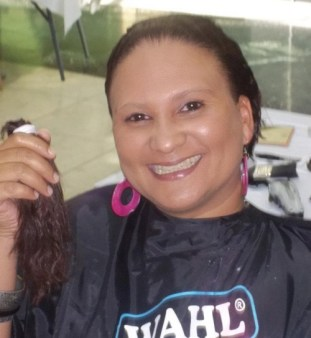 A ponytail donated at Cresta