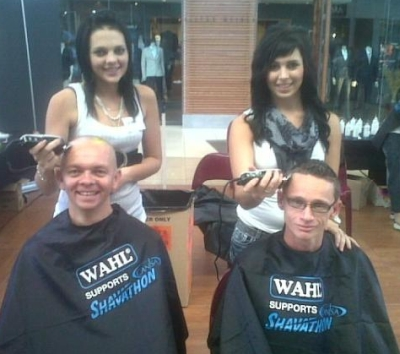 GaryRom Hairdressing Woodlands Shavathon