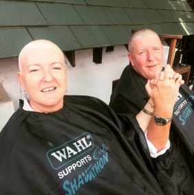 Tina who gathered 13 other ladies to shave their heads in support of cancer survivors