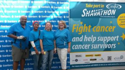 Sanlam Head Office CANSA Shavathon 2015 01