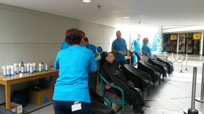 Sanlam Head Office CANSA Shavathon 2015 03
