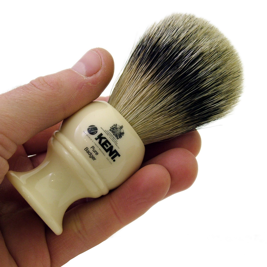 Kent BK4 Silver Tip Badger Shaving Brush White