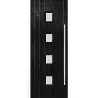 Milton Black External Glazed Door Set | Shawfield Doors