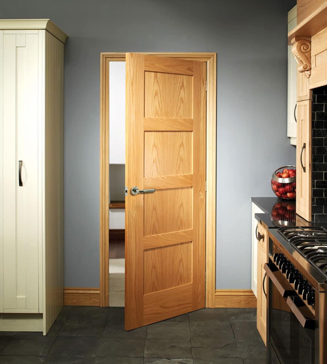 Shaker Oak 4 Panel Door  Shawfield Doors