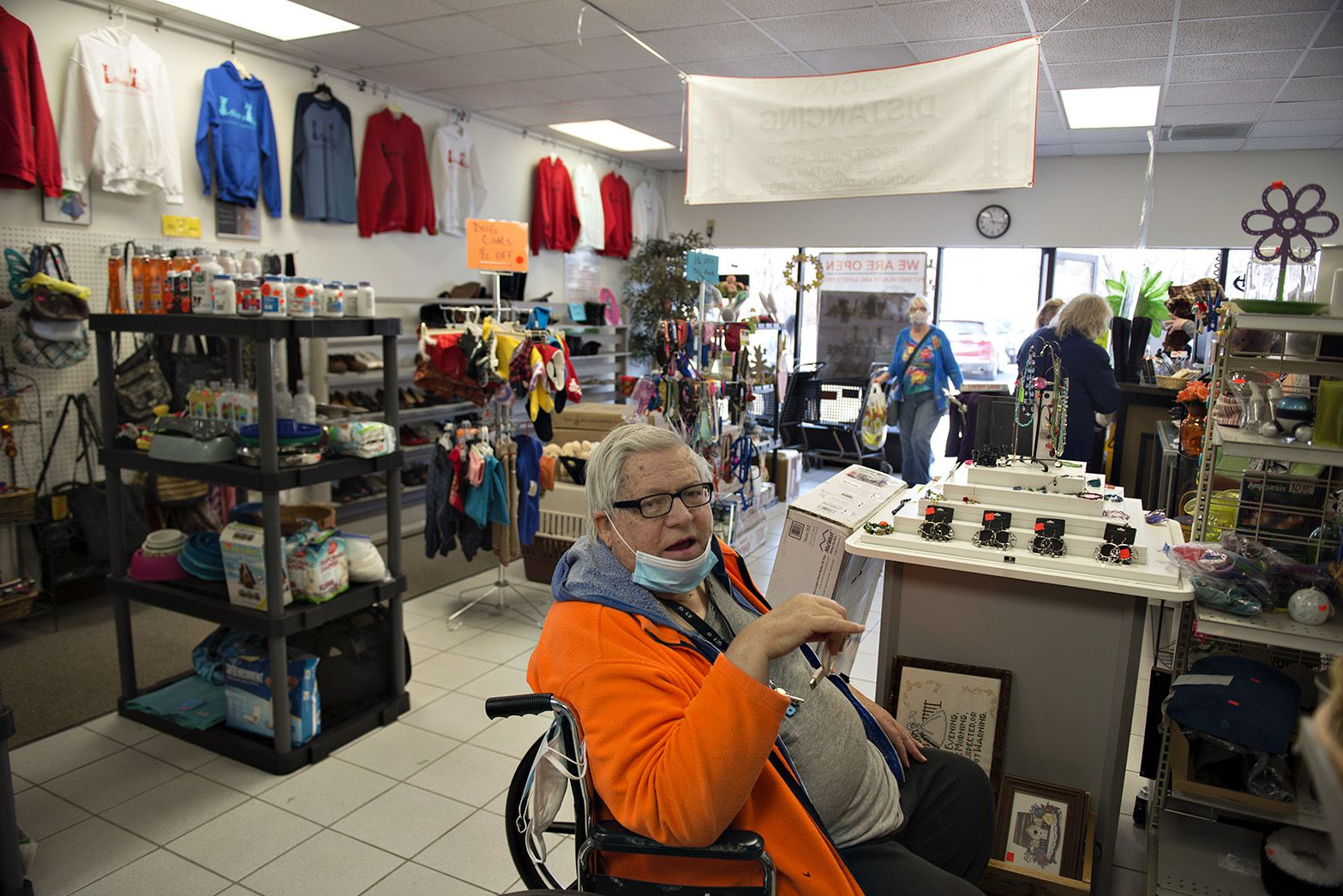 """""""[The Whiteside County Housing Authority] has done a real good job taking care of us,' said Craig Howard, as he shopped for a computer cord at Happy Tails thrift shop. Howard has been a resident of the high rise since 2002."""