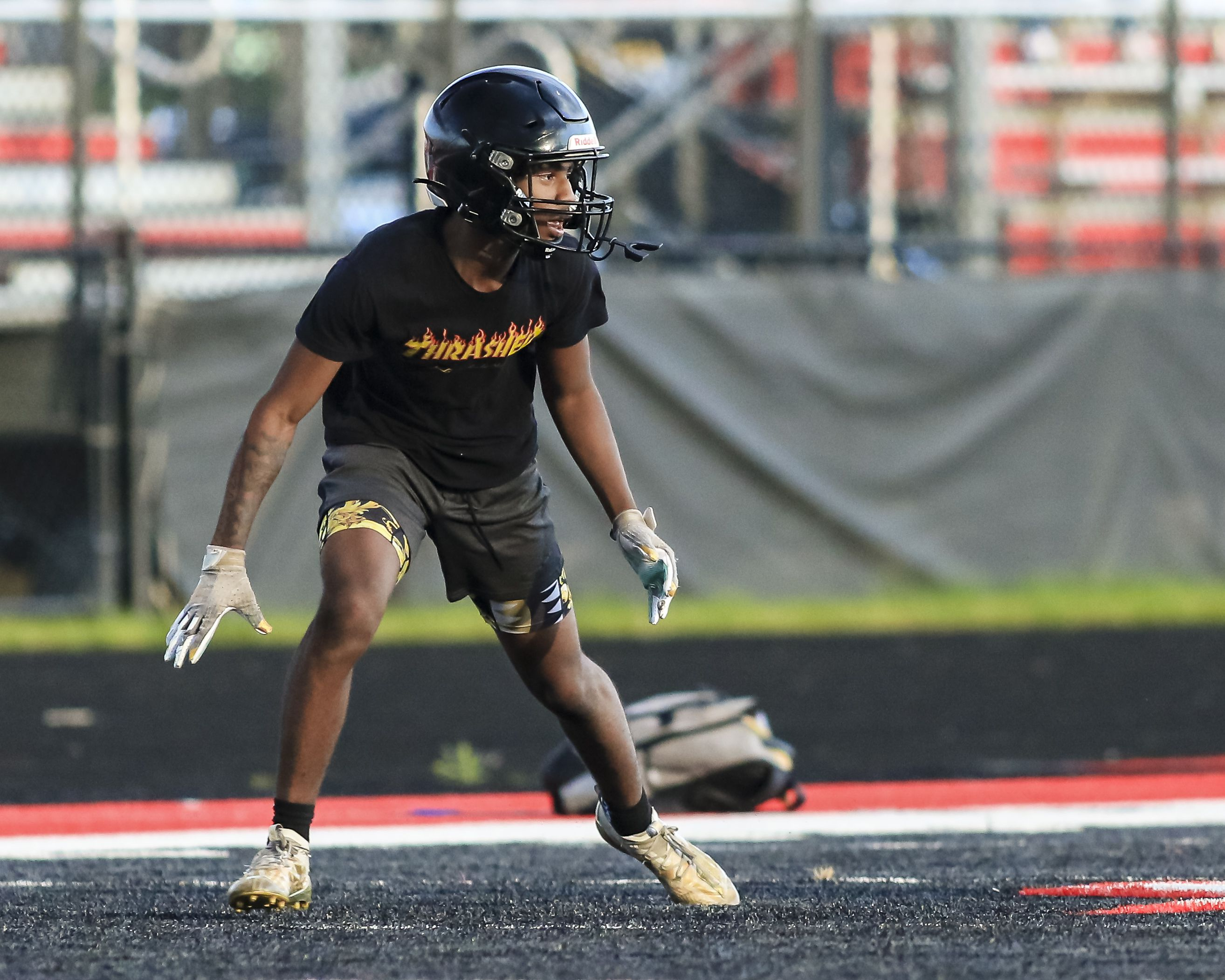 Bolingbrook's Amon Walker during Football 7 on 7 at Bolingbrook. Tuesday July 13,2021.  Gary E Duncan Sr. for Shaw Local.