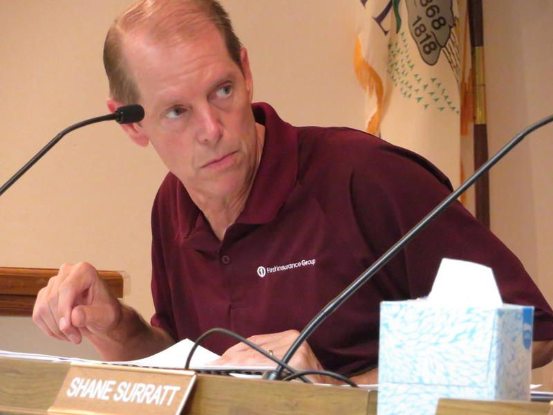 FILE PHOTO: Former Sandwich Ward 3 Alderman Pete Dell talks during a City Council meeting Monday, July 22, 2019 at city chambers in the Sandwich Opera House, 140 E. Railroad St. in Sandwich. Dell was appointed city treasurer May 10, 2021.