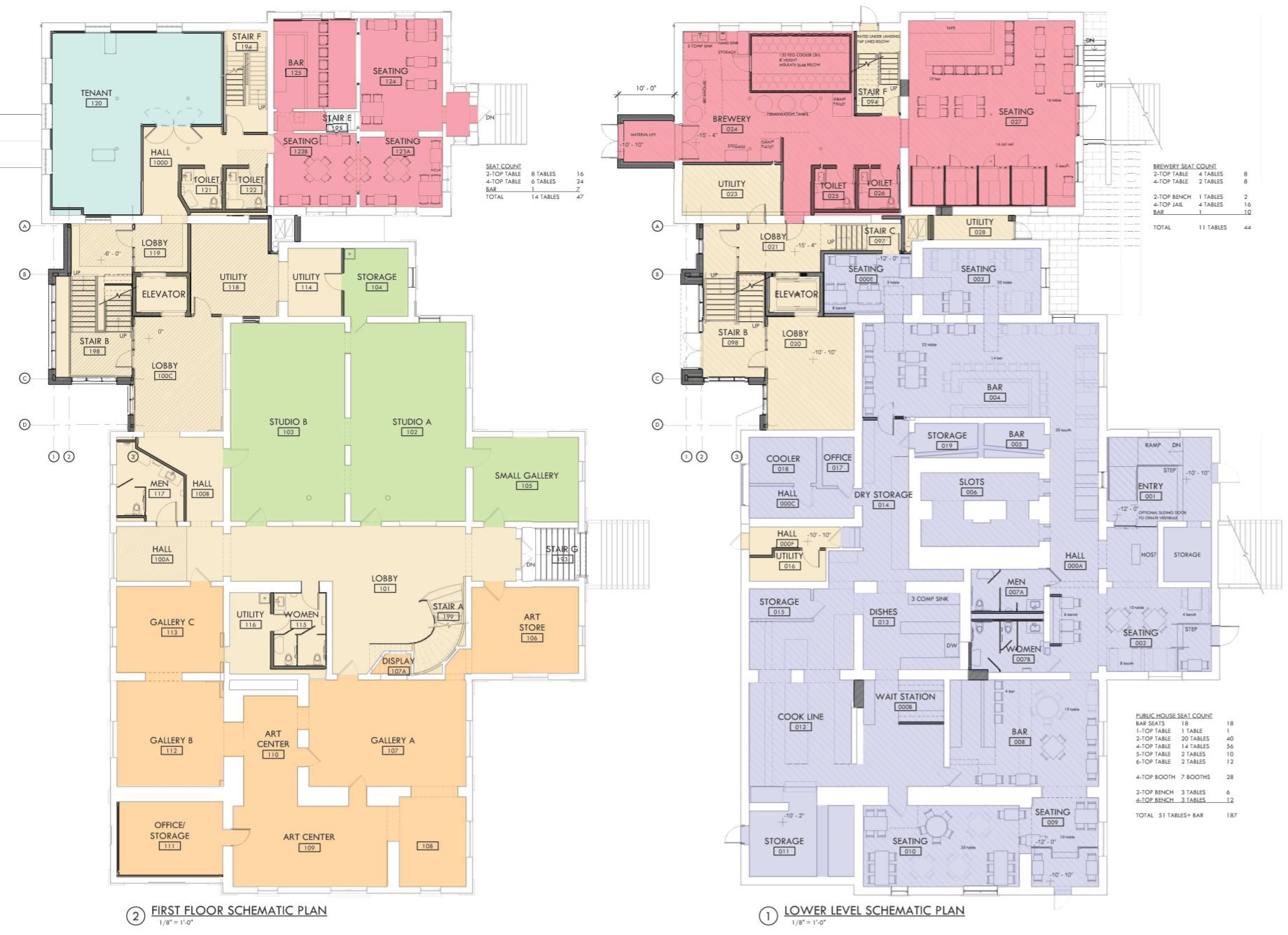 The latest floor plans for the renovated Old Courthouse and Sheriff's Jail complex in the center of downtown Woodstock show where Milwaukee-based MobCraft Beer would operate its brewery and taproom and where the Public House restaurant would seat its guests, as well as an event and banquet space upstairs that will be run by Ethereal Confections.