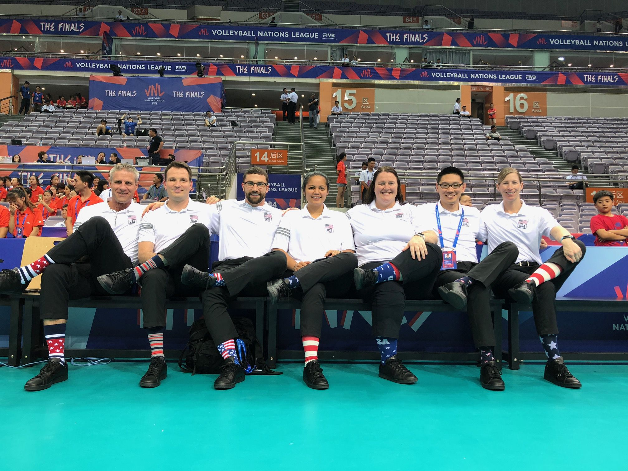 Erin Virtue (third from right, pictured with the rest of the Olympic coaching staff), who starred at setter for St. Francis, is a member of the U.S. women's volleyball national team that will compete in the Olympics this summer in Tokyo.