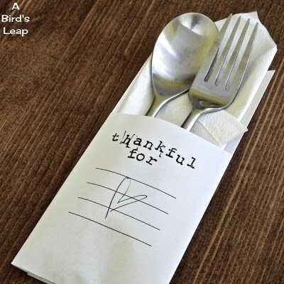 DIY Thanksgiving utencil holder 6