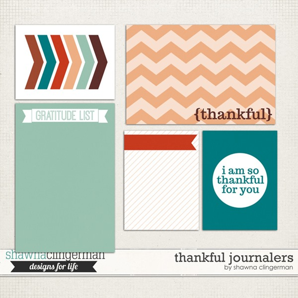 Free Project Life Cards: Thankful Journalers
