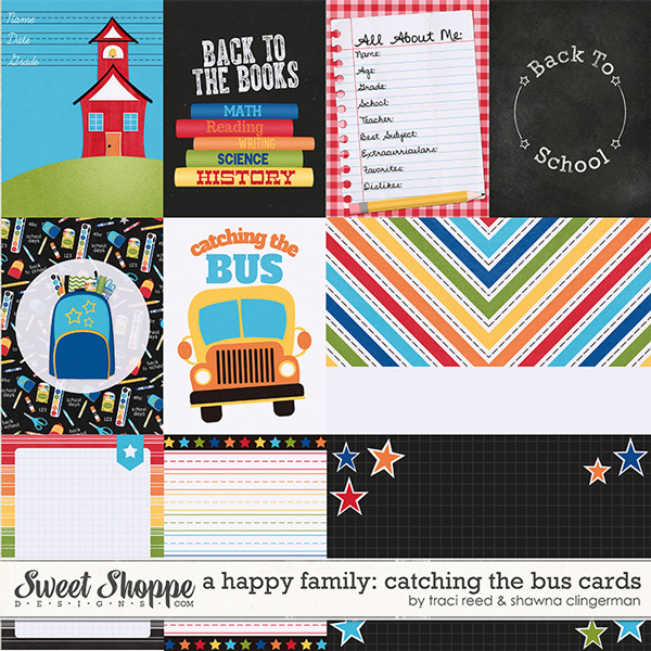 A Happy Family Catching The Bus Cards by Shawna Clingerman and Traci Reed