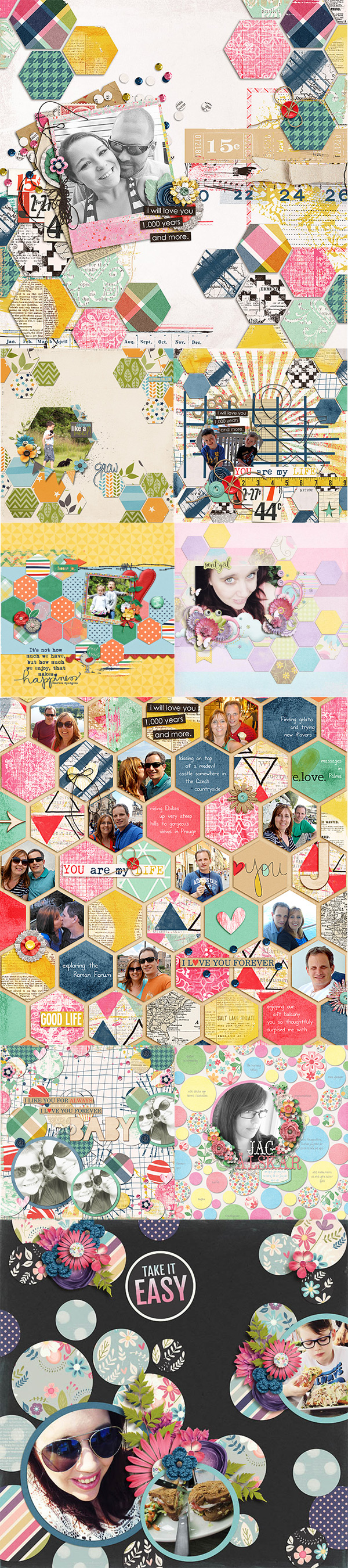 Layouts using Creative Blocks by Shawna Clingerman