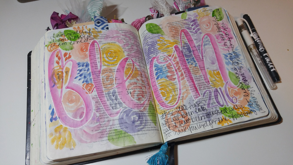 1 Year of Bible Journaling Captured