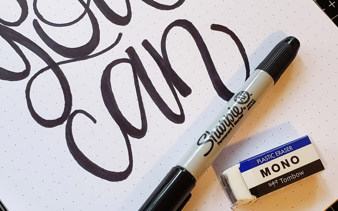"Learn to Create""Brush Lettering"" with a Simple Sharpie Marker!"