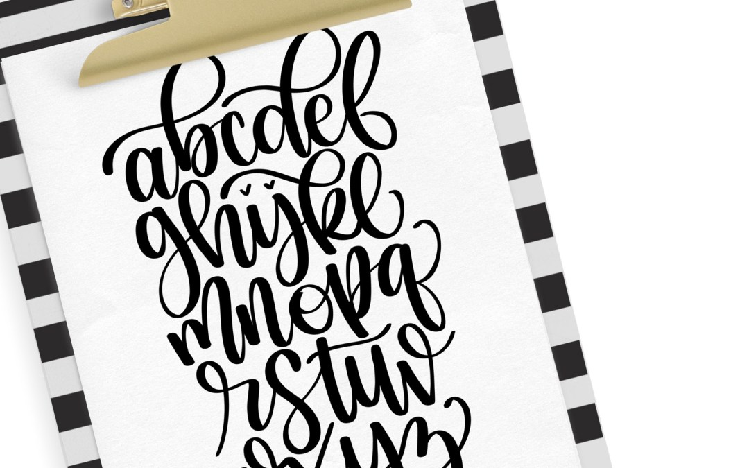 FREE Printable Handlettering Reference Sheet – PLUS exciting news!