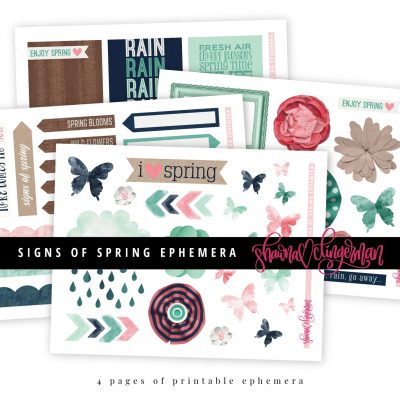 Signs of Spring Ephemera by Shawna Clingerman