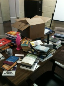 books, box and other stuff
