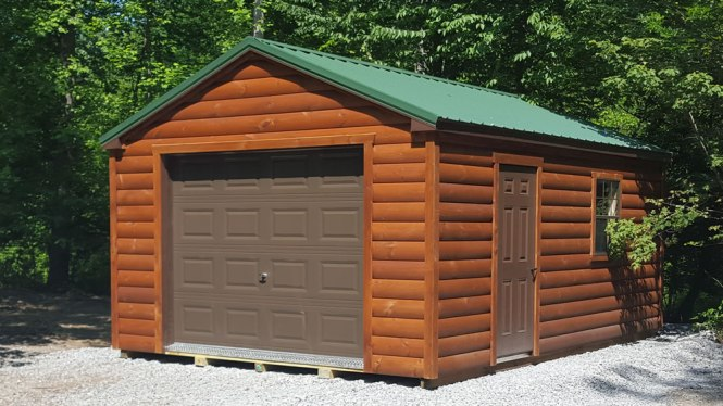 Log Sided Garages Pennsylvania Maryland And West Virginia