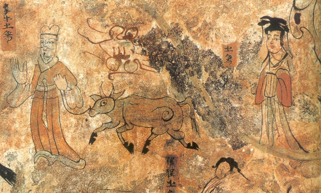 Describing the story about the 7th Day of the 7th Month (Wall Painting, AD 400, KoGuRyu Dynasty in Korea)