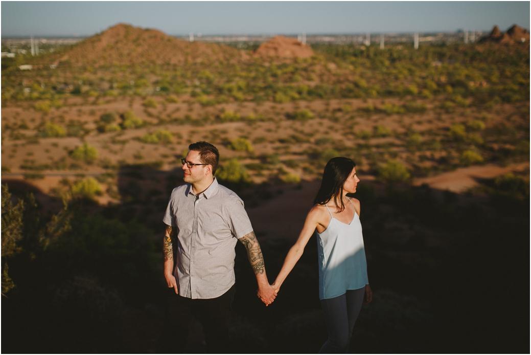 Engagement session in Scottsdale, AZ Papago Park