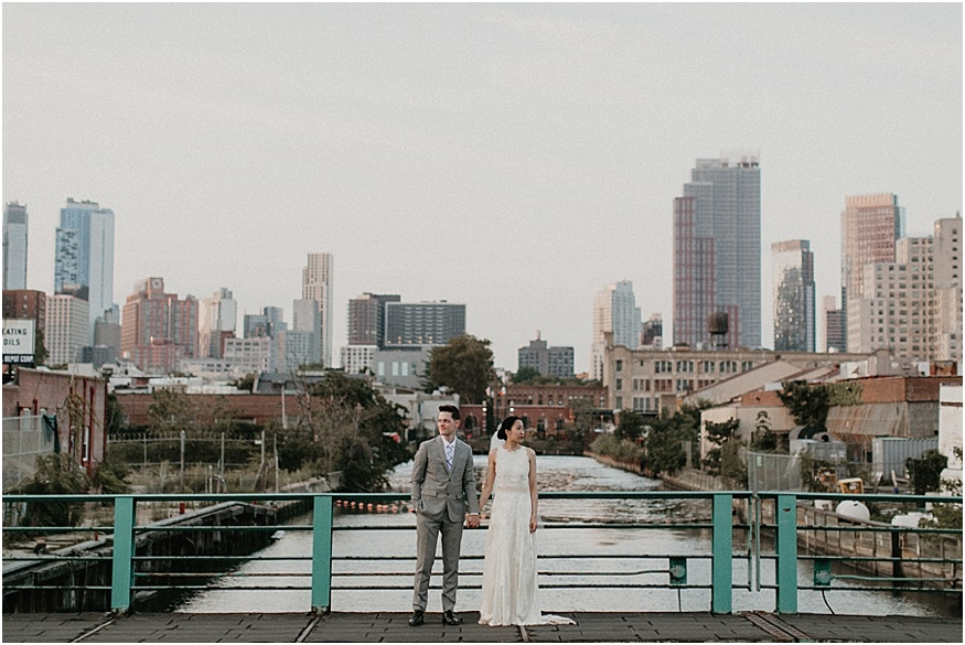 Gowanus Canal Wedding Photos Near Fort Greene