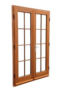 Timber French Double Doors
