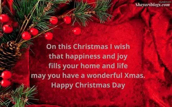 happy christmas day shayari in english image