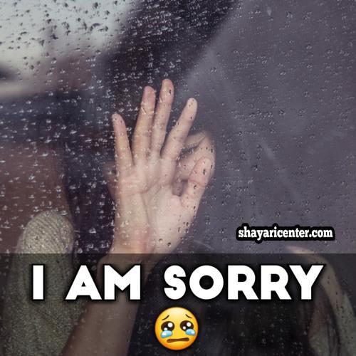 girl sorry shayari image for boyfriend