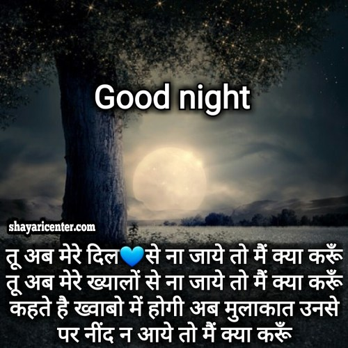 lover good night shayari image
