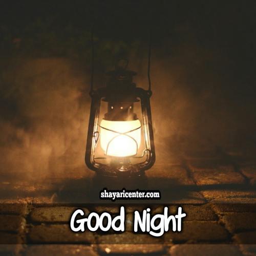 good night shayari image english