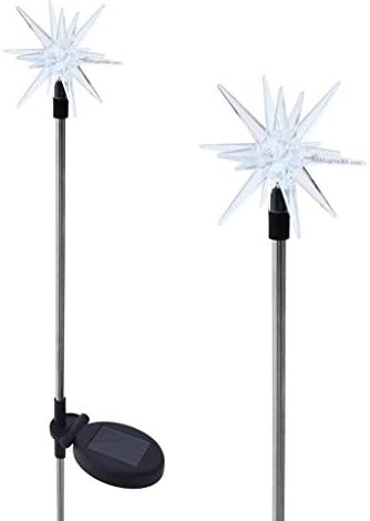 Wholesale Solar 1011-2 Outdoor Garden Starburst Stake Solar Lights, a pack of 2