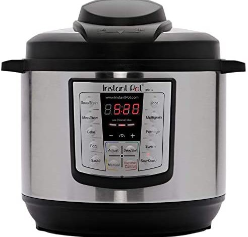 Instant Pot Lux 6-in-1 Electric Pressure Cooker, Sterilizer Slow Cooker, Rice Cooker, Steamer, Saute, and Warmer, 6 Quart, 12 One-Touch Programs