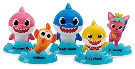 WowWee Pinkfong Baby Shark Official 5-Figure Pack – Baby Shark and Friends