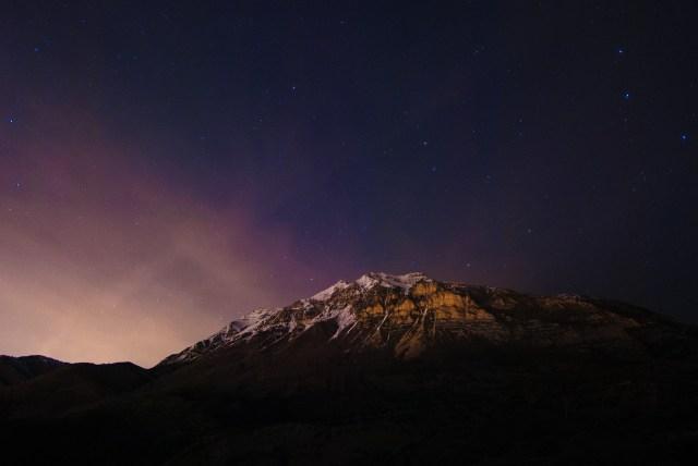 Mount Timpanogos Utah nighttime