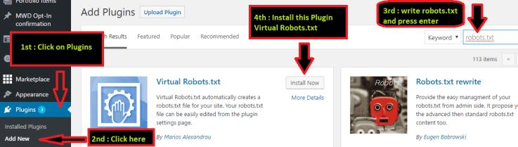 Add Robots.txt from Plugin