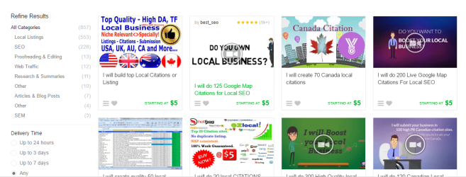 Fiverr Gigs List