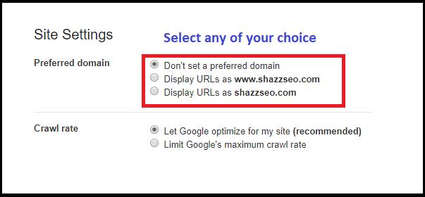 select www vs non www