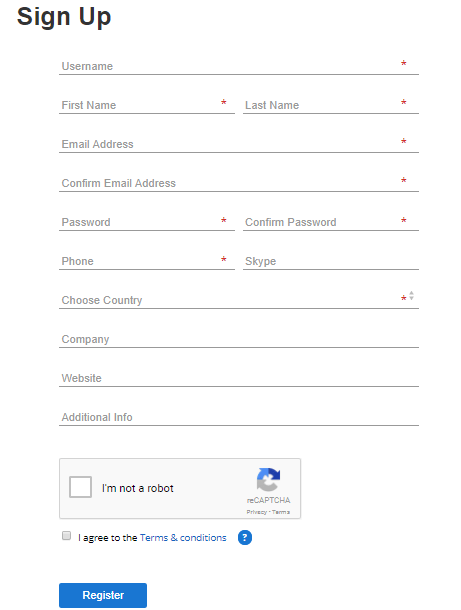 fiverr Affiliation Form