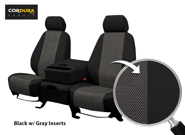 cover chair seat car oak tables and chairs cordura waterproof covers by shearcomfort sale on now installed black with gray close up of fabric