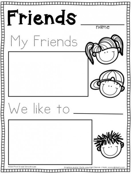 Thematic Unit For Kindergarten Worksheets About Friendship
