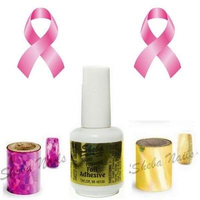 T Cancer Month Nail Art Foil Kit