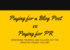 Feature: Paying For a Blog Post vs Paying for PR